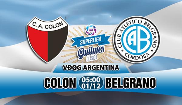 Nhận định Colon vs Belgrano, 05h00 ngày 1/12 - VĐQG Argentina