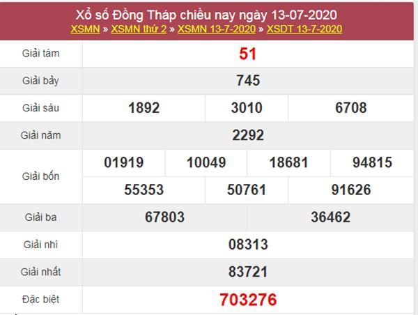 Soi cầu XSDT 20/7/2020 chốt lô Đồng Tháp siêu chuẩn