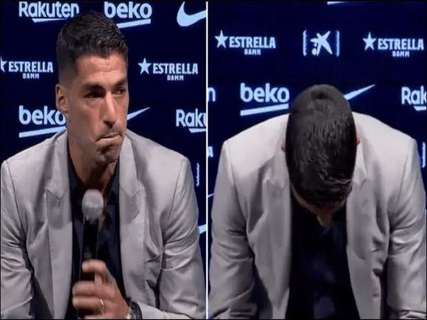 Tin bóng đá trưa 25/9: Suarez họp báo chia tay Barca trong nước mắt
