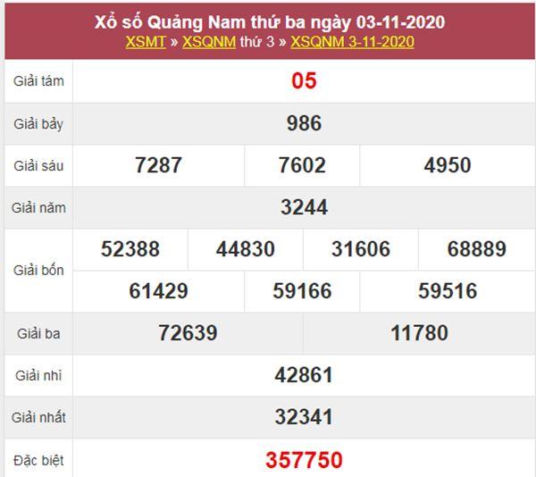 Nhận định KQXS Quảng Nam 10/11/2020 thứ 3 tỷ lệ trúng cao