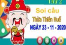 Soi cầu XSTTH ngày 23/11/2020 – Soi cầu xổ số Thừa Thiên Huế thứ 2