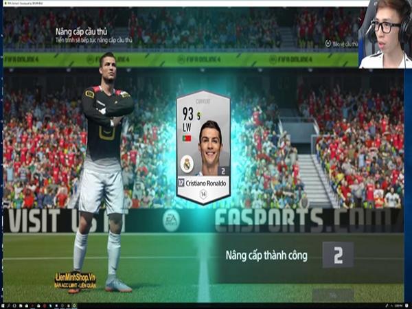 Thẻ cầu thủ Ronaldo tt trong FiFa Online 4