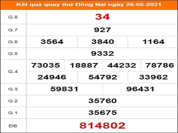Quay thử xổ số Đồng Nai ngày 26/5/2021